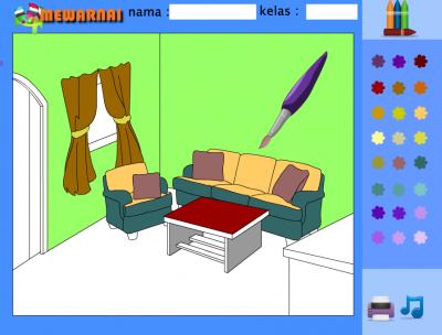 Bahan Gambar Anak Tk Ruang Tamu Mewarnai Gambar Ruang Keluarga Untuk Anak Tk